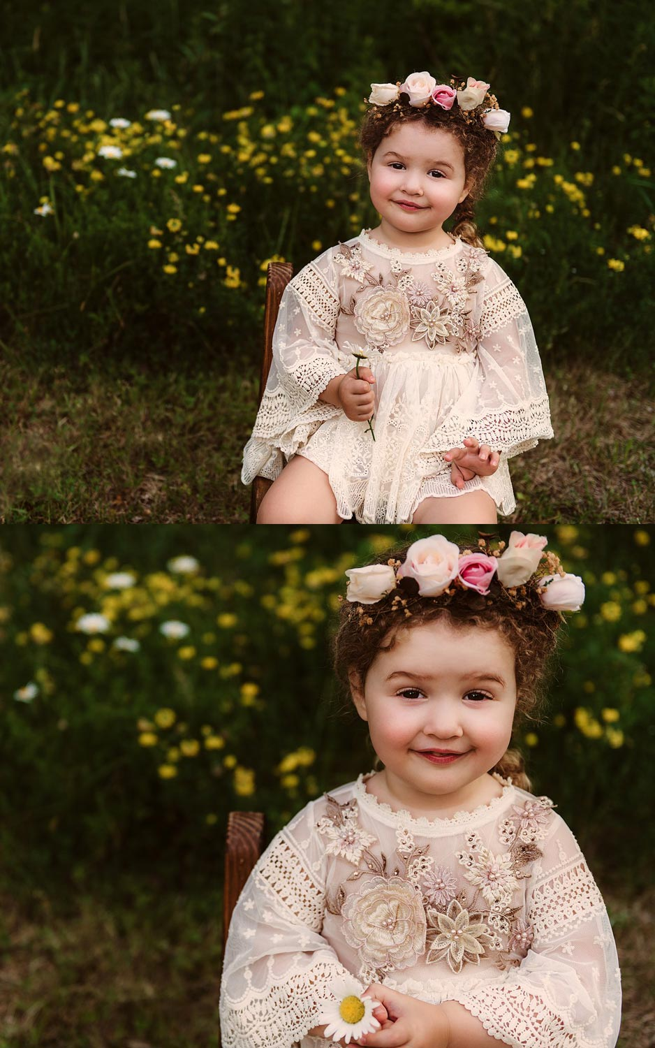 Londonderry NH Child Portraits with wildflowers
