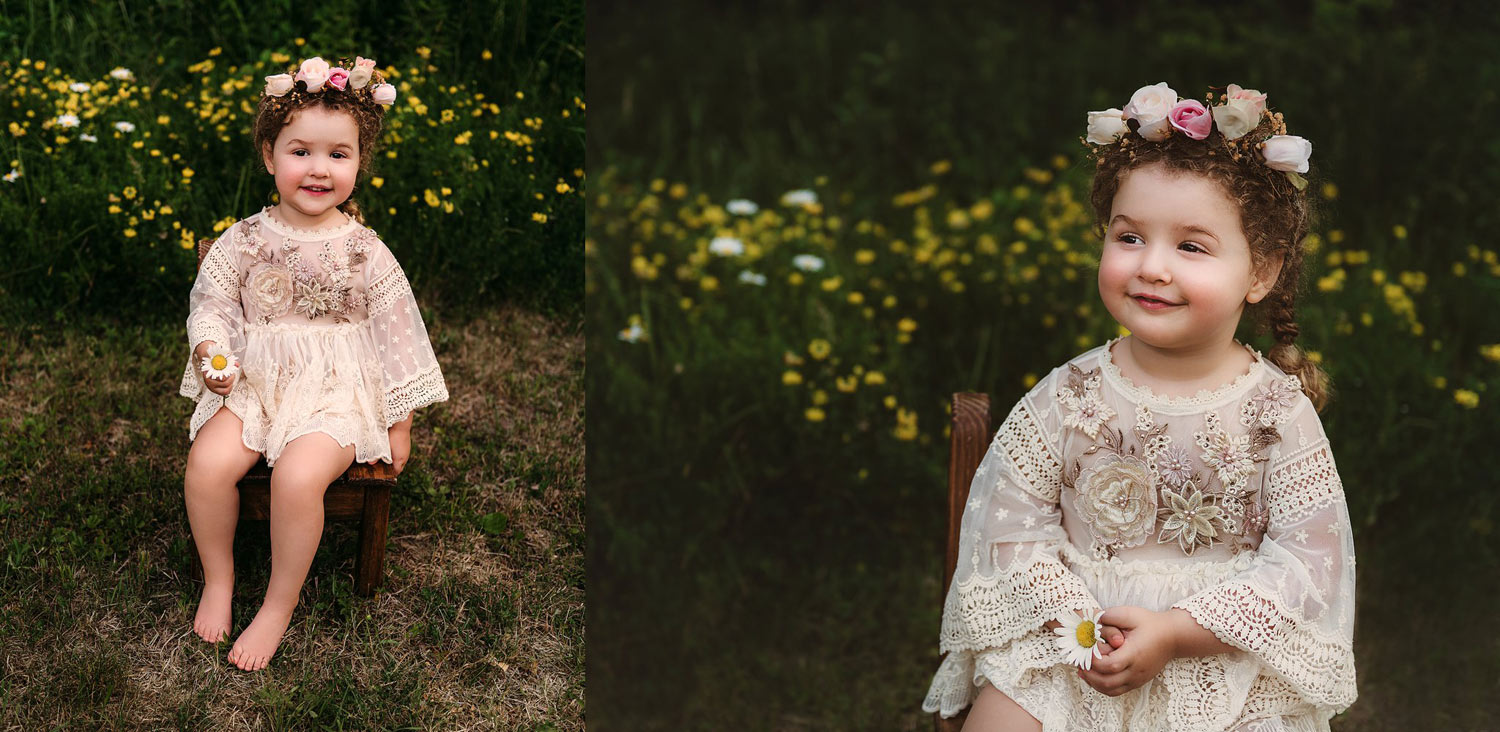 Londonderry New Hampshire boho toddler milestone session